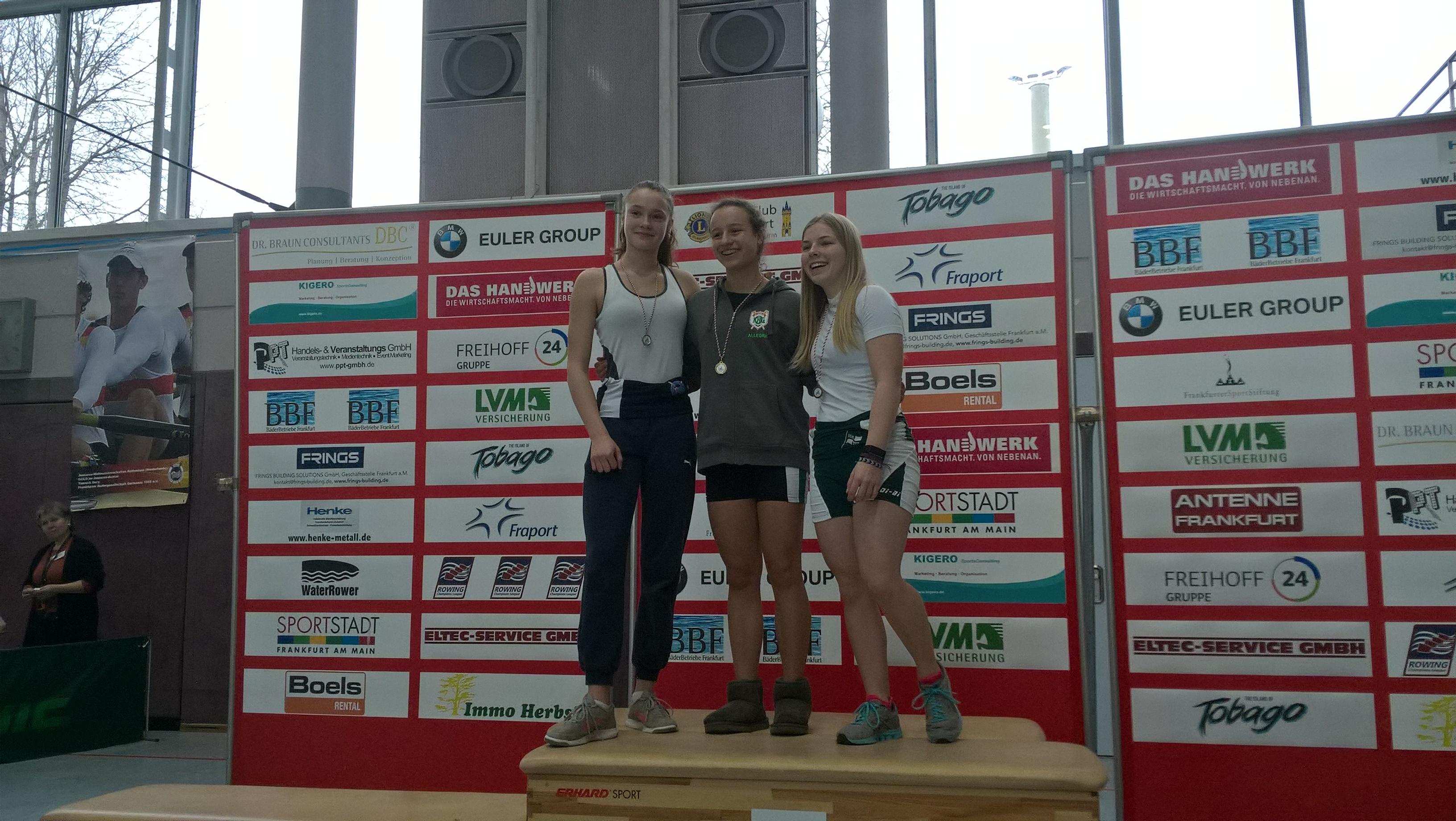 Anna Langemann errang den 3. Platz bei den leichten B-Juniorinnen